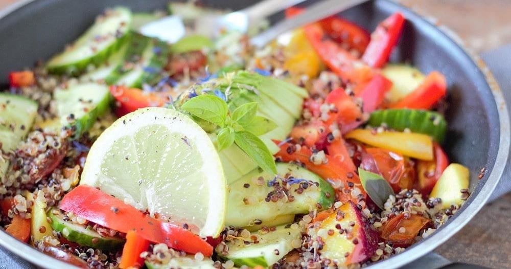Low FODMAP Quinoa Salad
